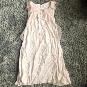 Free People Light Pink Frost Ruffle Dress Size 4